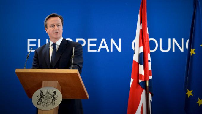 David Cameron au Conseil européen