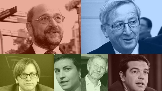 Schulz, Juncker, Verhofstadt, Keller, Bové, Tsipras