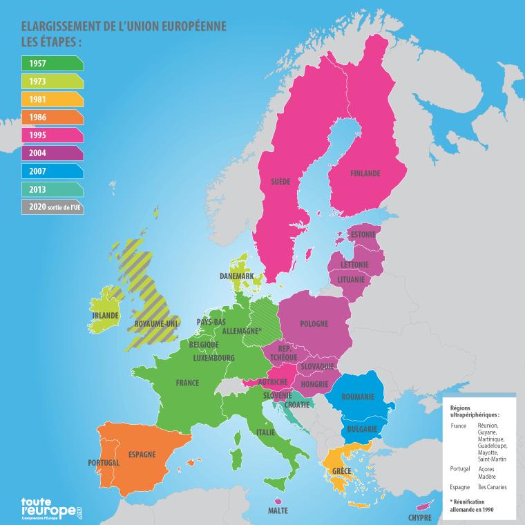 Carte de l'Union européenne