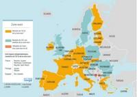 Carte de la zone euro