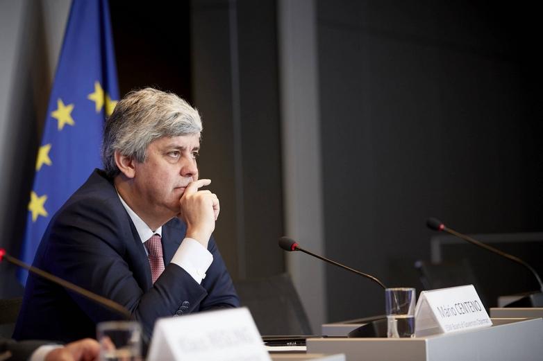Le président de l'Eurogroupe Mário Centeno le 13 juin - Crédits : Mario Salerno / Conseil de l'UE