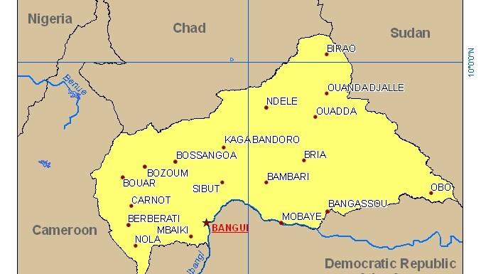 Carte pays Centrafrique (c) Commission européenne