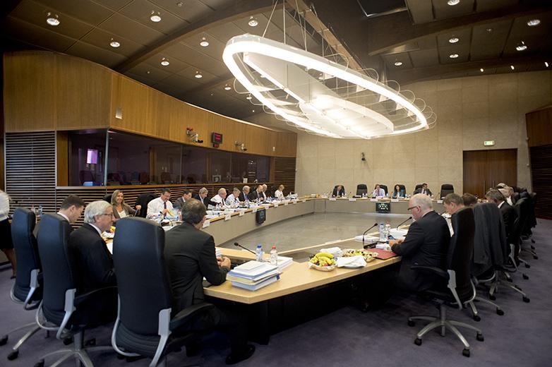 Réunion collège de la Commission européenne