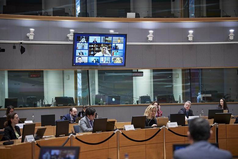 Les ministres des Affaires étrangères des 27 Etats de l'Union se sont dit prêts à ouvrir les négociations en vue de l'adhésion de l'Albanie et de la Macédoine du nord lors d'une vidéo-conférence le 24 mars