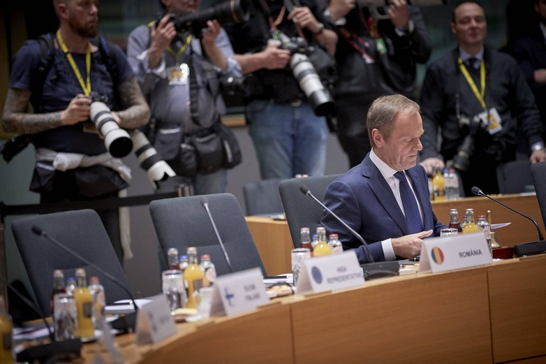 Donald Tusk, lors du Conseil européen du 21 mars 2019 - crédits : Union européenne