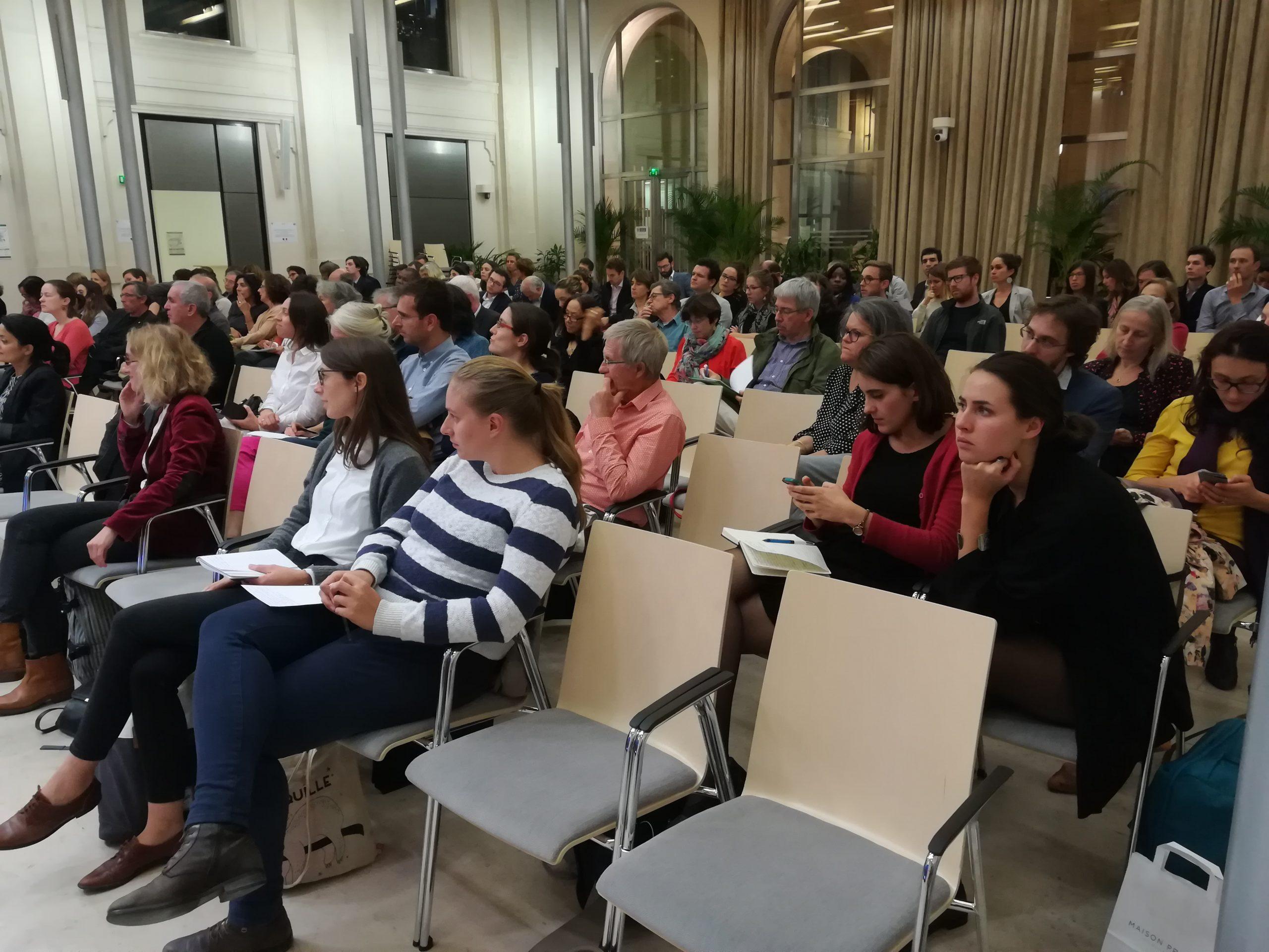 Environ 85 personnes ont assisté à la rencontre sur les substances chimiques et leur contrôle dans l'UE - Crédits : Marie Guitton / Toute l'Europe