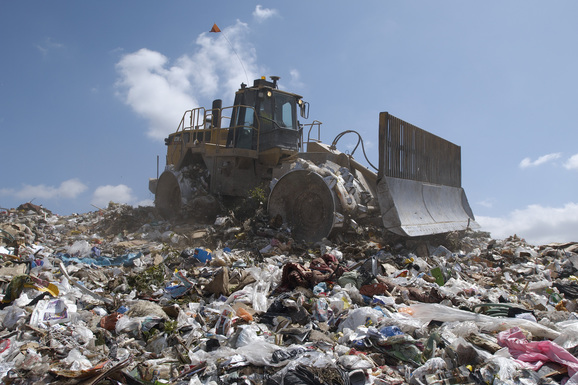 bulldozer dechets
