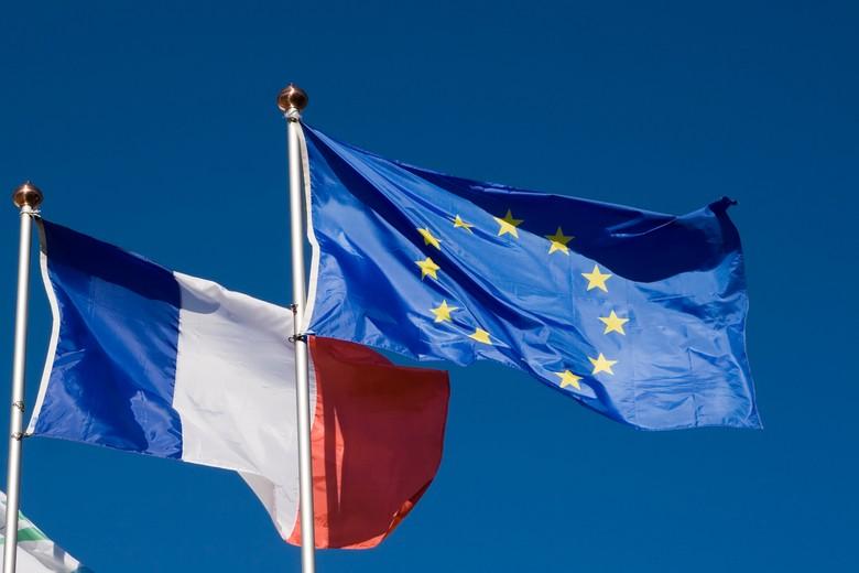 Drapeau France et Union européenne