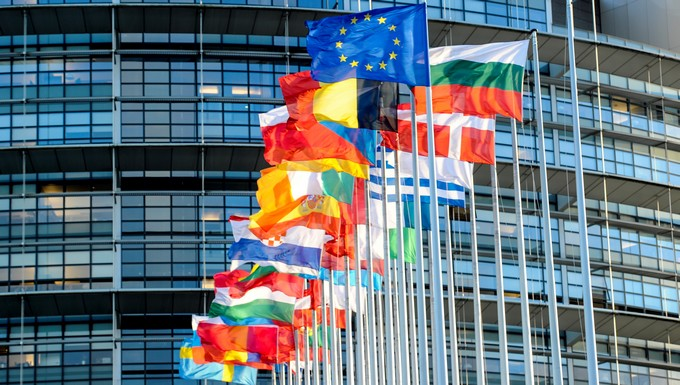 Drapeaux Parlement européen
