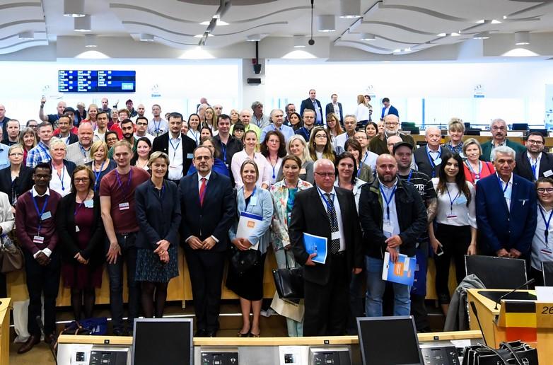 Panel des citoyens au Comité économique et social européen - crédits : CESE