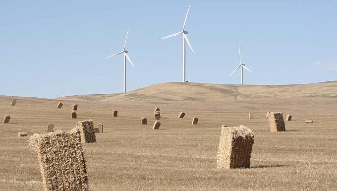 Turbines and hay