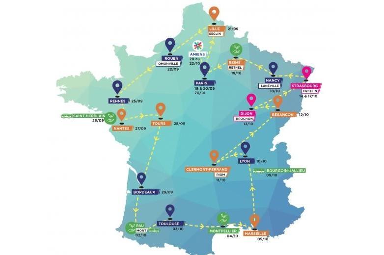 L'Erasbus sur les routes de France