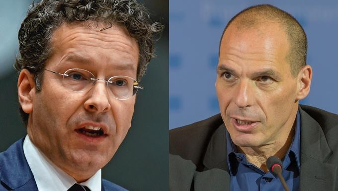 Jeroen Dijsselbloem et Yanis Varoufakis