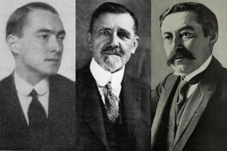Richard Coudenhove-Kalergi, Émile Borel et Aristide Briand