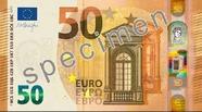 Billet de 50 euros série Europe, recto