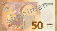 Billet de 50 euros série Europe, verso