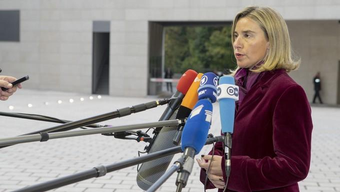 Federica Mogherini, lundi 17 octobre