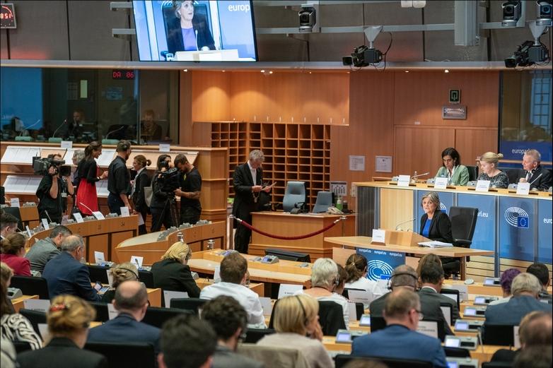 Audition de la Portugaise Elisa Ferreira, commissaire désignée à la Cohésion et aux Réformes, le 2 octobre à Bruxelles - Crédits : Pietro Naj-Oleari / Flickr European Parliament CC BY 2.0