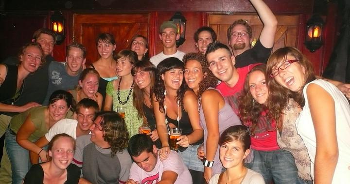 Une fête entre étudiants Erasmus à Groningue aux Pays-Bas