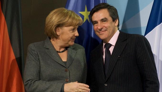 Angela Merkel et François Fillon