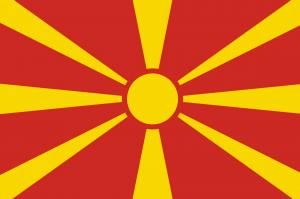 Drapeau République de Macédoine du Nord