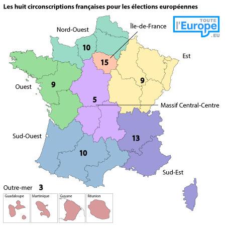 circonscriptions françaises élections européennes