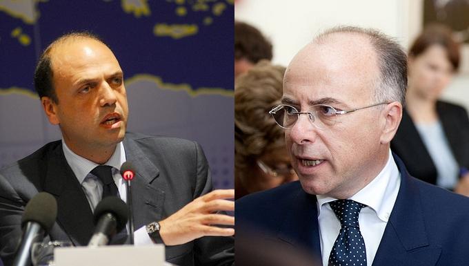 Angelino Alfano et Bernard Cazeneuve