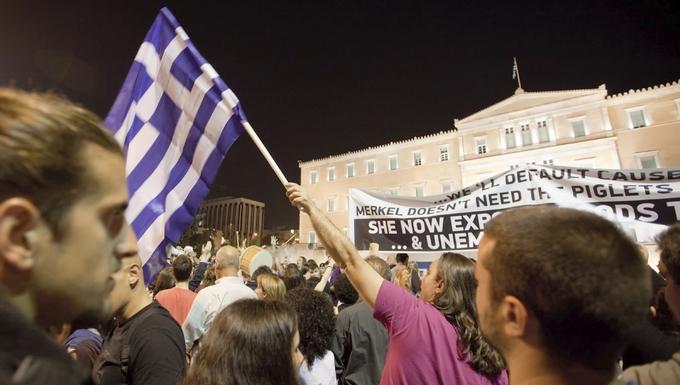 Manifestation contre anti-austérité à Athènes