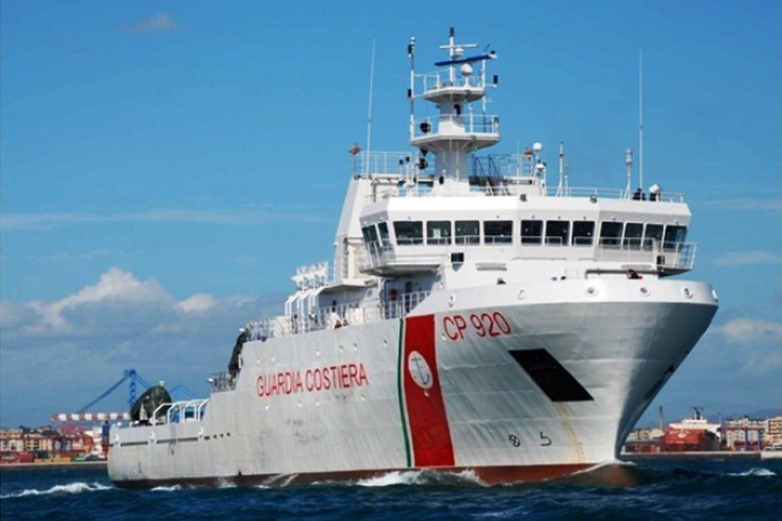 Le Gregoretti, navire des garde-côtes italiens