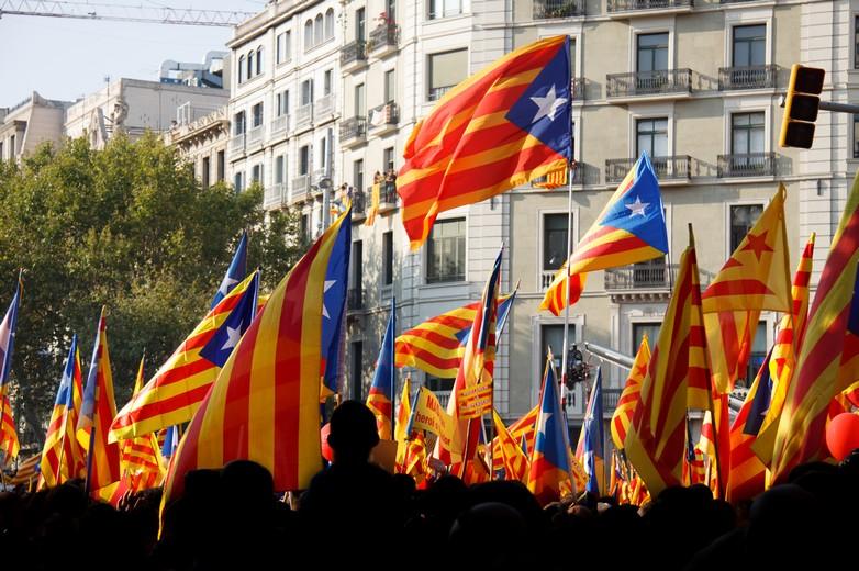 Manifestation lors de la Fête nationale catalane