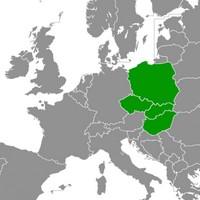 Carte du groupe de Visegrád