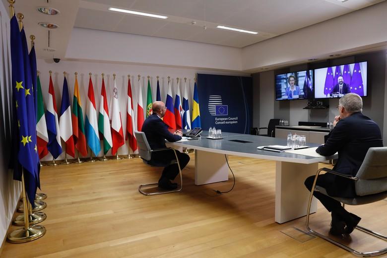 Charles Michel, président du Conseil européen, a assisté lundi 15 juin, à la rencontre politique de haut niveau qui s'est tenue par visioconférence entre le Premier ministre britannique et la présidente de la Commission européenne
