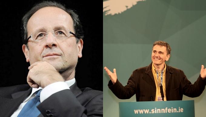François Hollande et Euclide Tsakalotos