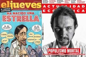 Unes de journaux espagnols sur Pablo Iglesias : Naissance d'une étoile ou Populisme mortel ?