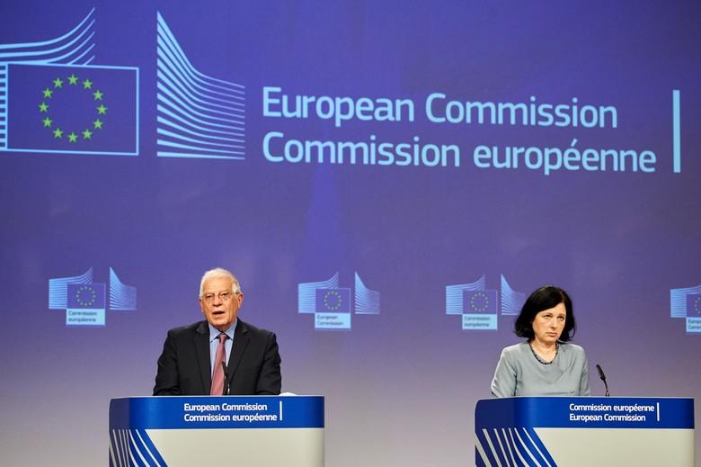 Le chef de la diplomatie européenne Josep Borrell et la commissaire chargée des Valeurs et de la Transparence Věra Jourová ont présenté mercredi 10 juin un rapport accusant directement la Chine de désinformation