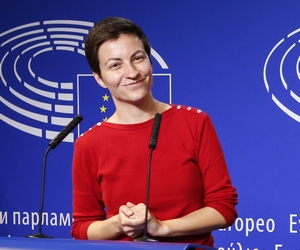L'Allemande Ska Keller, cheffe de file des Verts européens pour les élections européennes, le 28 mai à Bruxelles - Crédits : Alexis Haulot / Parlement européen