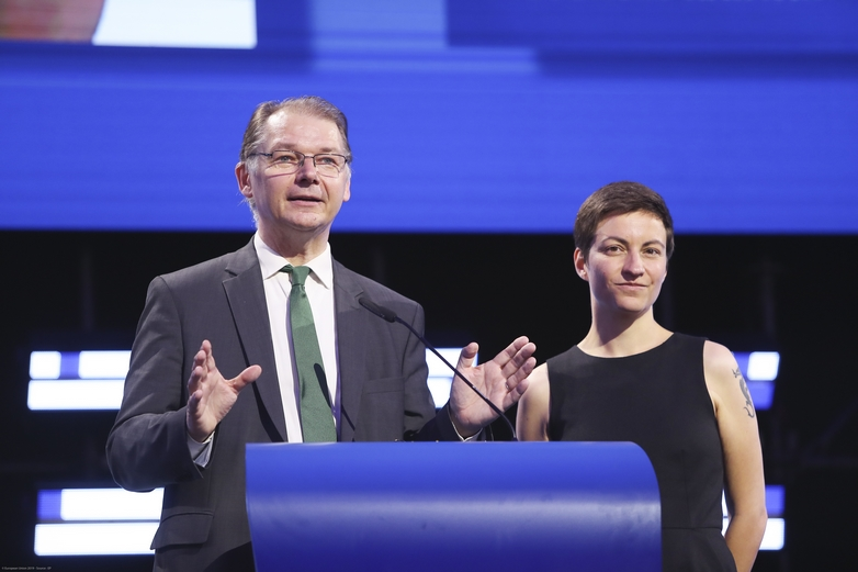 Philippe Lamberts et Ska Keller, coprésidents des Verts/ALE au Parlement européen