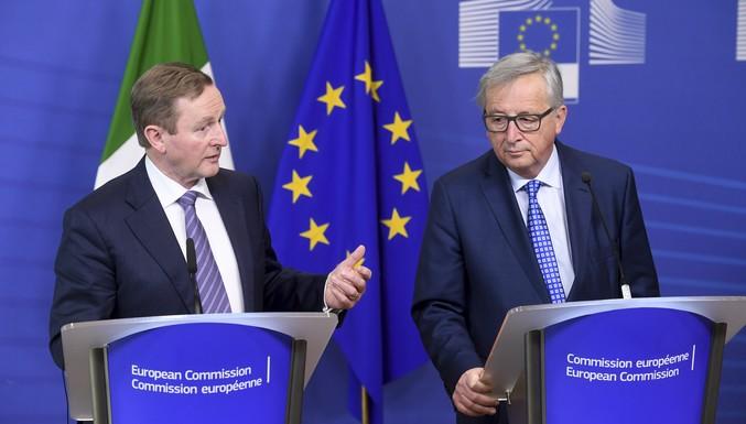 Enda Kenny et Jean-Claude Juncker, le 23 février 2017