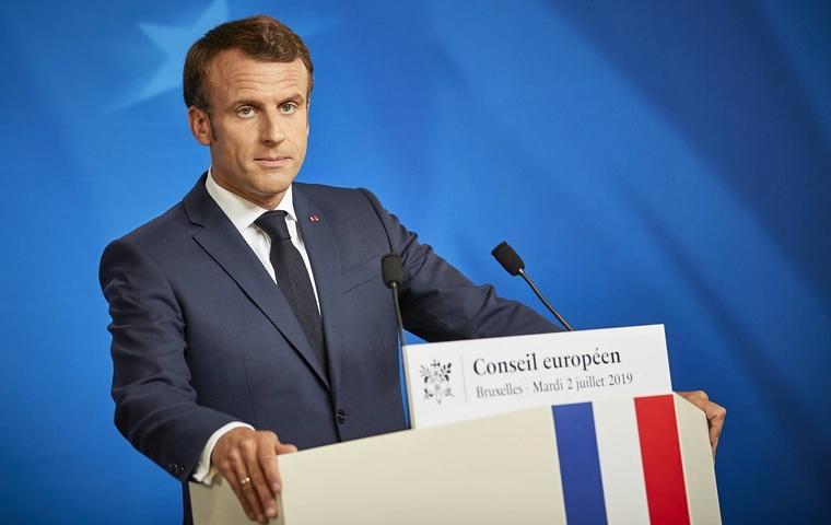 Emmanuel Macron au Conseil européen le 2 juillet 2019 à Bruxelles - Crédits : Mario Salerno / Conseil européen