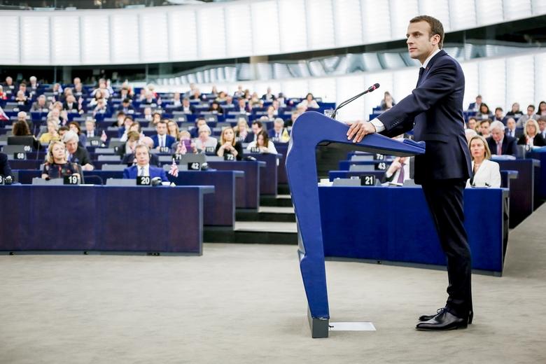 Emmanuel Macron devant le Parlement européen