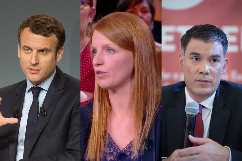 Emmanuel Macron, Ingrid Levavasseur, Olivier Faure - Crédits : Mutualité française / Flickr   L'Emission politique / capture d'écran   Parti socialiste / Flickr