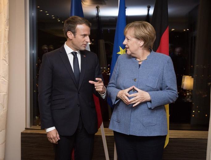 Angela Merkel et Emmanuel Macron à Tallinn