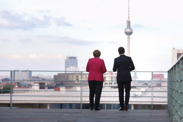 La chancelière allemande Angela Merkel et le président français Emmanuel Macron.