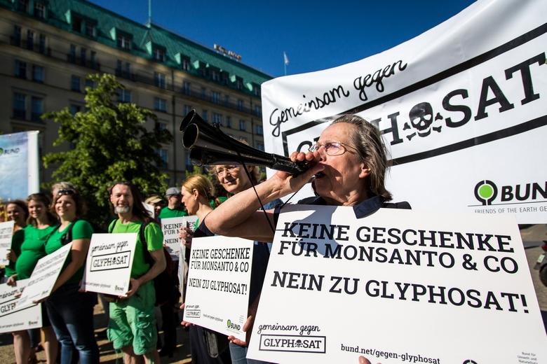 Manifestation contre le glyphosate à Berlin