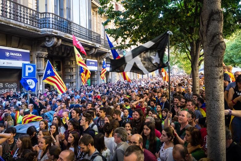 Manifestation indépendantiste à Barcelone le 20 septembre 2017 - Crédits : Màrius Montón / Wikimedia Commons CC BY-SA 4.0