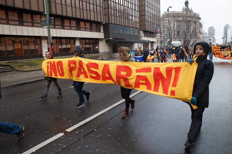 Manifestation de soutien à Carles Puigdemont