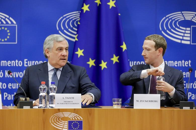 Mark Zuckerberg au Parlement européen