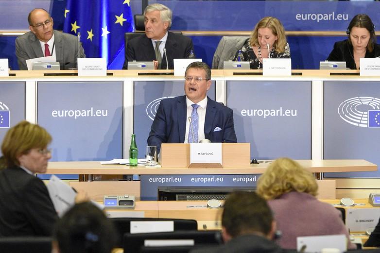 Maroš Šefčovič, commissaire désigné aux Relations interinstitutionnelles et à la Prospective, auditionné le 30 septembre 2019 - Crédits : Parlement européen / European Union 2019