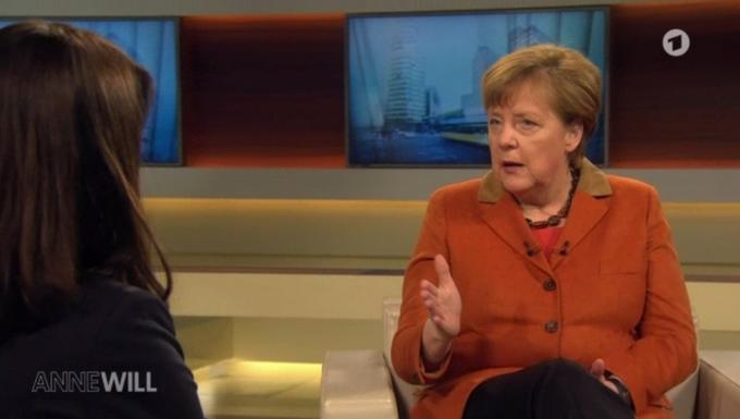 Angela Merkel sur la chaîne ARD - 28 février 2016