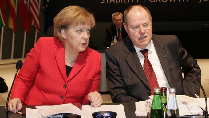 Angela Merkel et Peer Steinbrück (c) Flickr